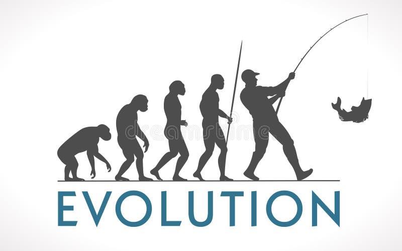 Evolution of man royalty free illustration