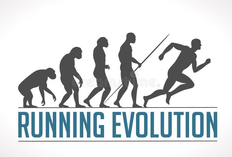 Evolution of man. Running concept vector illustration