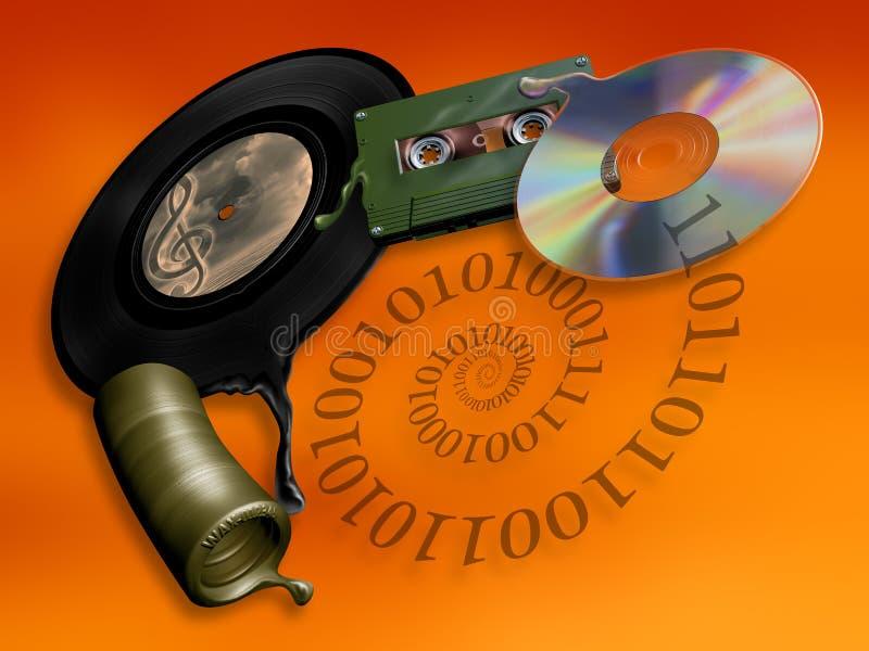 Download Evolution of music media stock illustration. Image of recording - 29157456