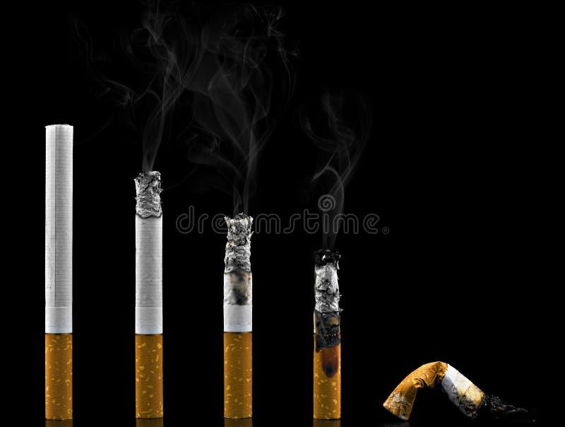 Evolution of the smoker stock photos