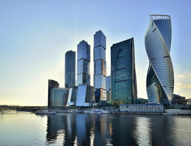 Moscow City, Moscow, Russia royalty free stock photography