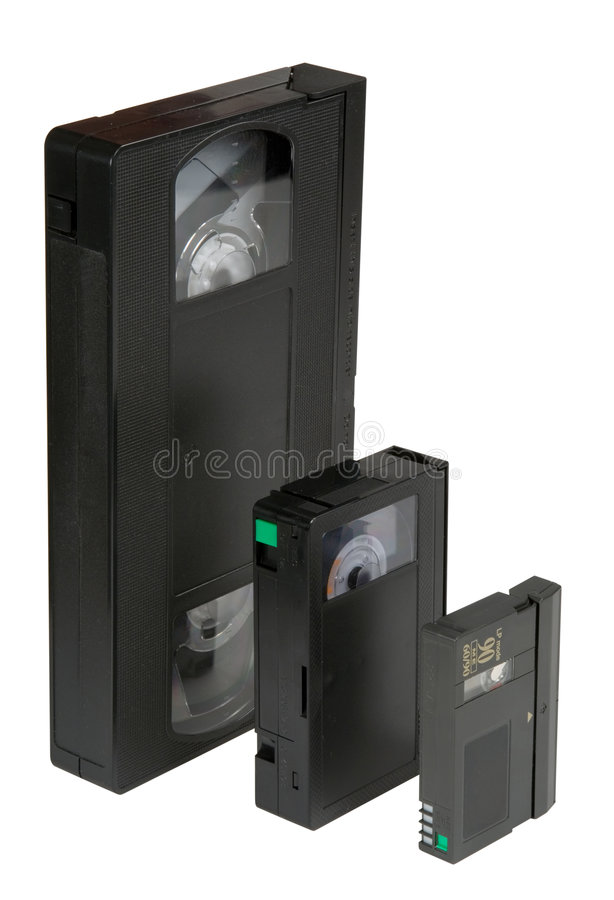Download Evolution VHS stock image. Image of digital, isolated - 1563643