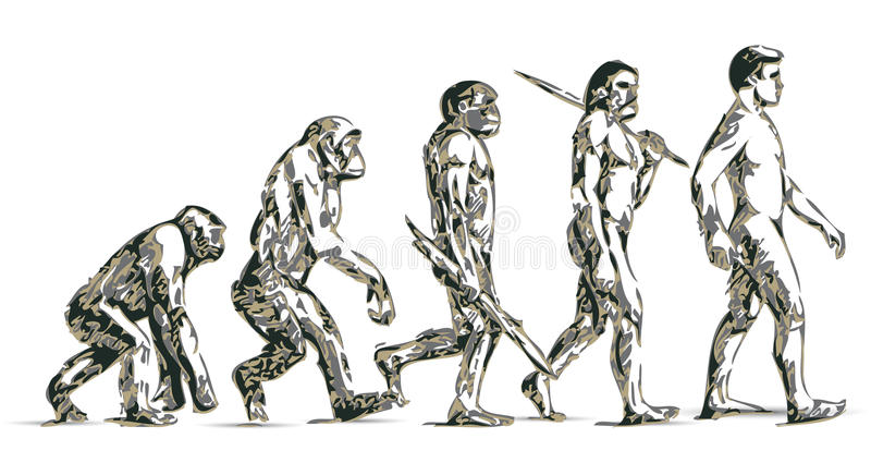 evolutionhuman vektor illustrationer