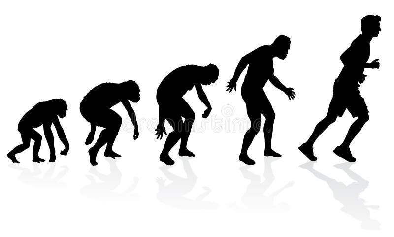 Evoluzione del corridore illustrazione vettoriale