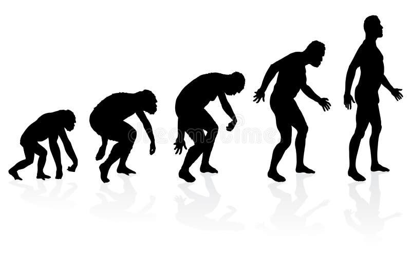 Evoluzione dell'uomo illustrazione vettoriale