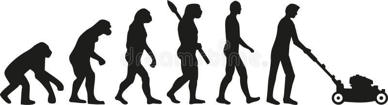 Evoluzione della falciatrice da giardino illustrazione vettoriale