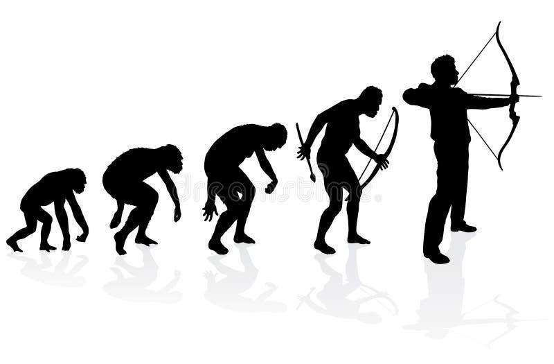 Evoluzione di Archer illustrazione vettoriale