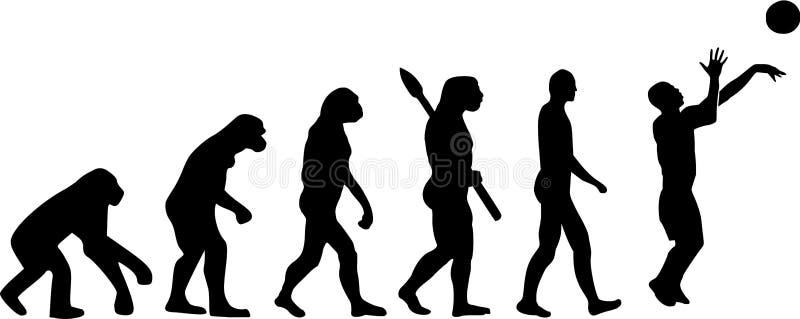 Evoluzione di pallacanestro royalty illustrazione gratis