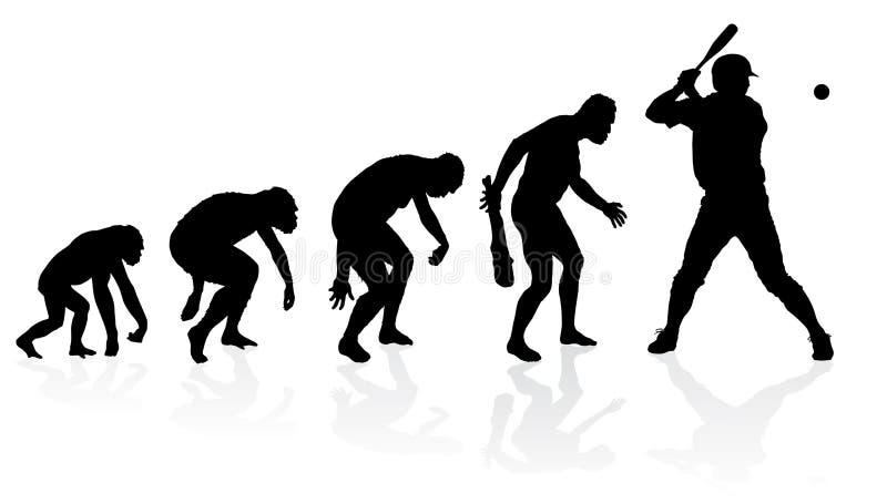 Evoluzione di un giocatore di baseball illustrazione di stock