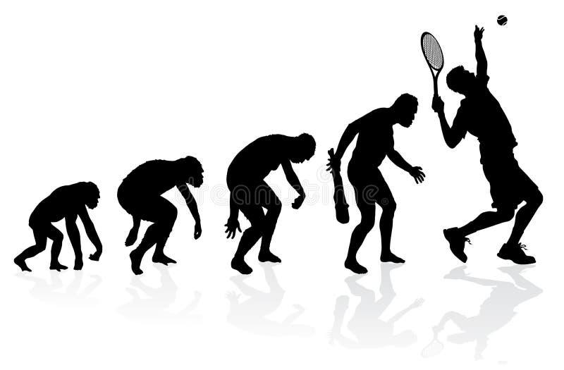 Evoluzione di un tennis illustrazione vettoriale