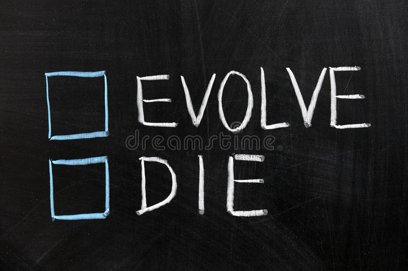Evolve or die royalty free stock photos