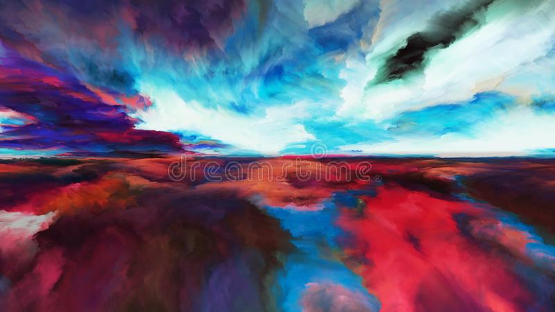 Evolving Abstract Landscape stock illustration