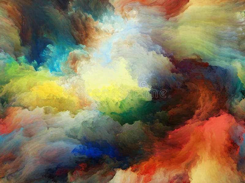 Evolving Background. Abstract Color series. Backdrop of  colorful paint in motion on canvas to complement your design on the subject of art, creativity and vector illustration
