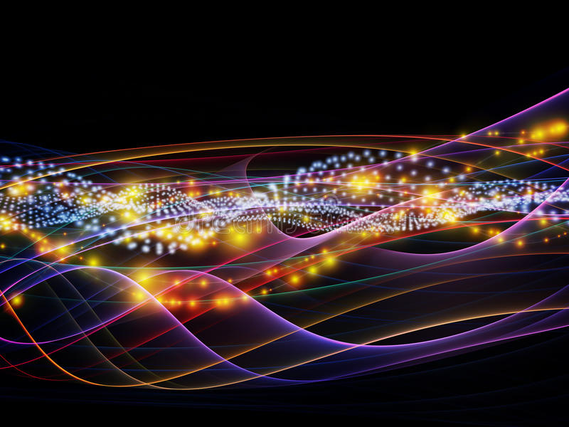 Evolving Dynamic Network stock photo. Image of light - 31948772