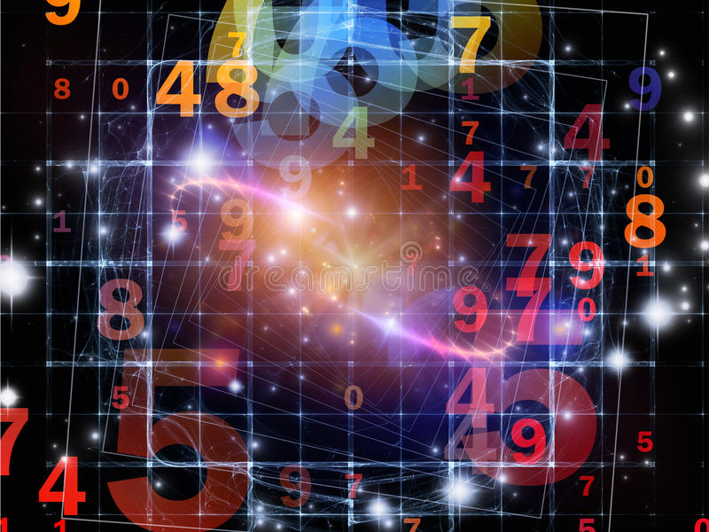 Evolving Numbers Royalty Free Stock Image