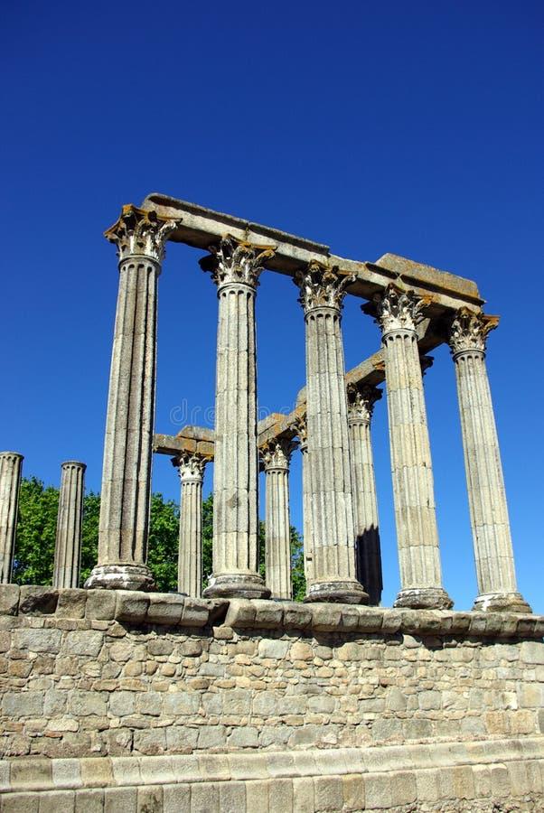 evora罗马寺庙 免版税图库摄影