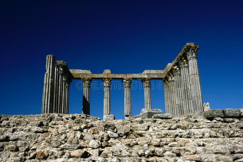 evora老罗马寺庙 库存图片