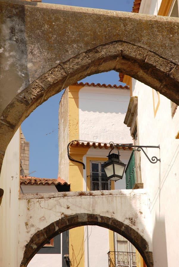 Evora en Portugal imagenes de archivo