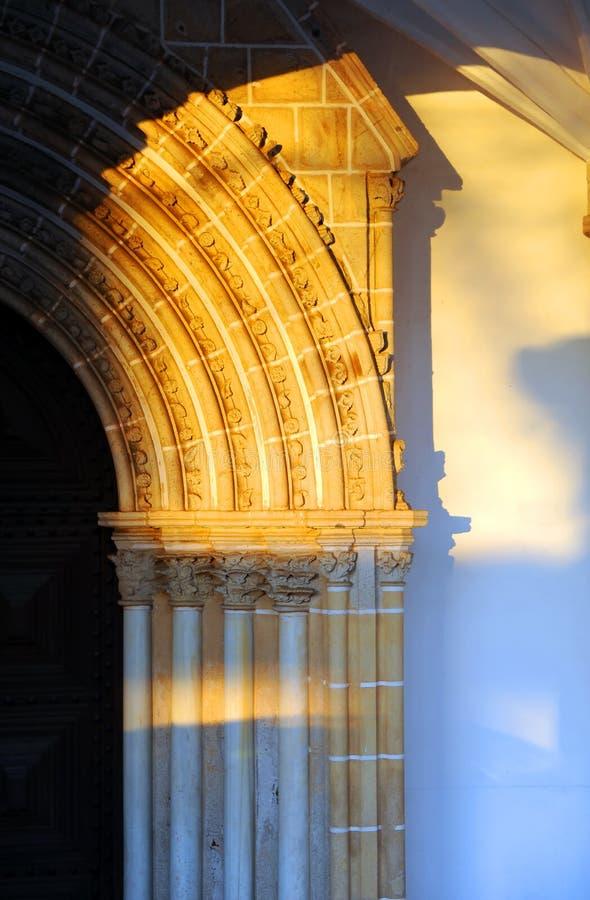 Evora, Kerk van St John de Evangelist, Kerk van Loios, Portugal stock afbeelding