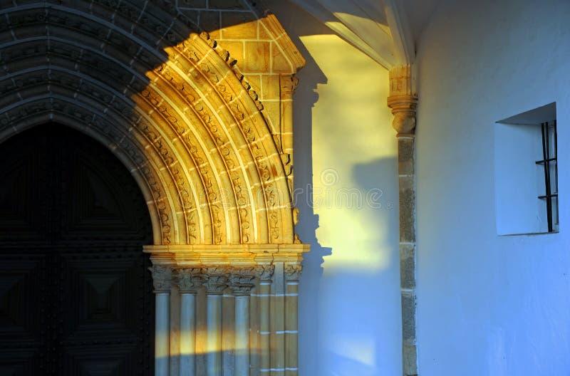 Evora kyrka av St John evangelisten, kyrka av Loios, Portugal royaltyfri bild