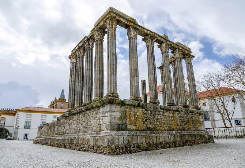 evora portugal Roman Temple Diana royaltyfria foton