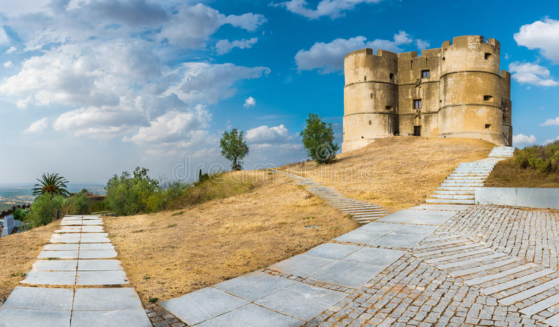 Evoramonte城堡 免版税库存照片