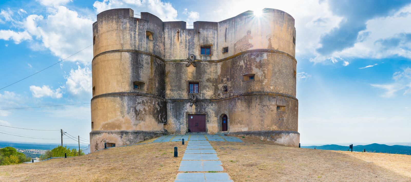 Evoramonte城堡 库存图片
