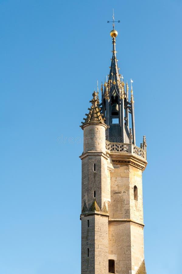Evreux klockatorn royaltyfri bild