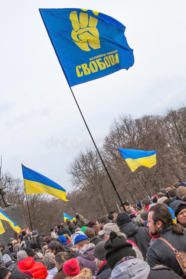 Evromaydan在乌克兰召集活动家 库存图片