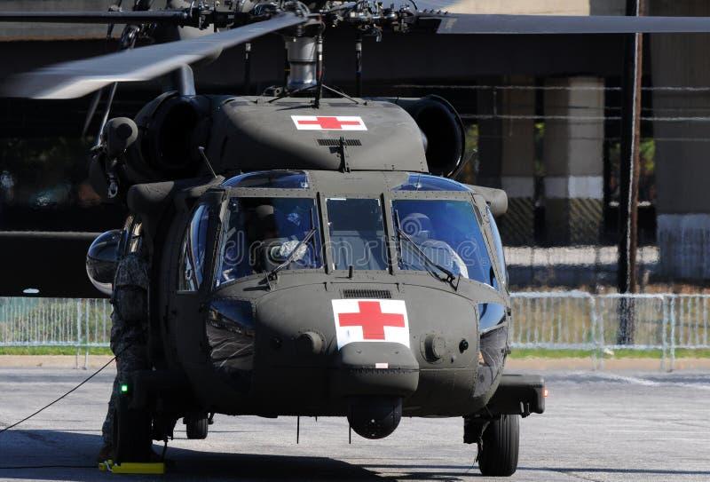 ewakuacyjny śmigłowcowy wojskowy zdjęcie stock