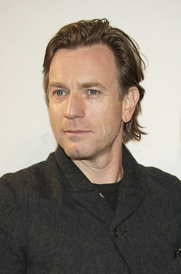 Ewan McGregor chega no festival de cinema 2018 de Tribeca imagem de stock royalty free