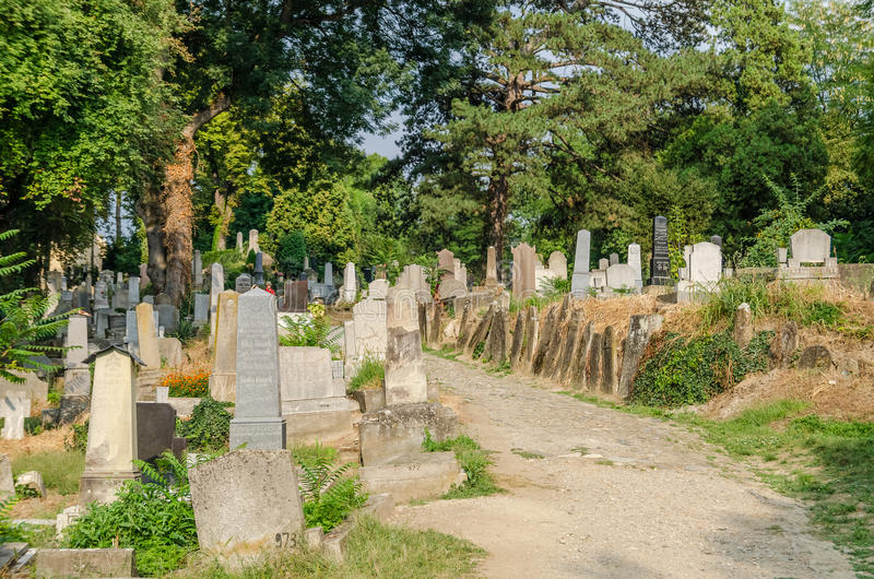Ewangelicki cmentarz zdjęcia stock
