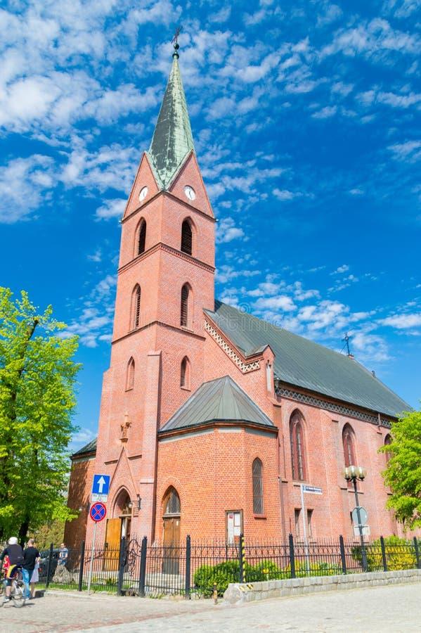 Ewangelicki kościół Augsburski Spowiedniczy Chrystus wybawiciel obraz royalty free