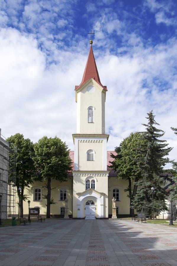 Ewangelicki kościół, Liptovsky Mikulas miasteczko, Sistani obrazy royalty free