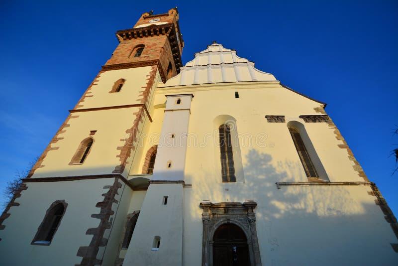 Ewangelicki kościół od Bistrita zdjęcia royalty free