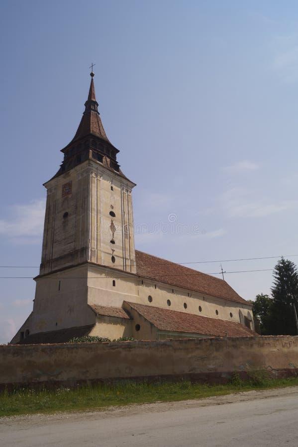Ewangelicki kościół od Feldioara, Brasov, Rumunia zdjęcia royalty free