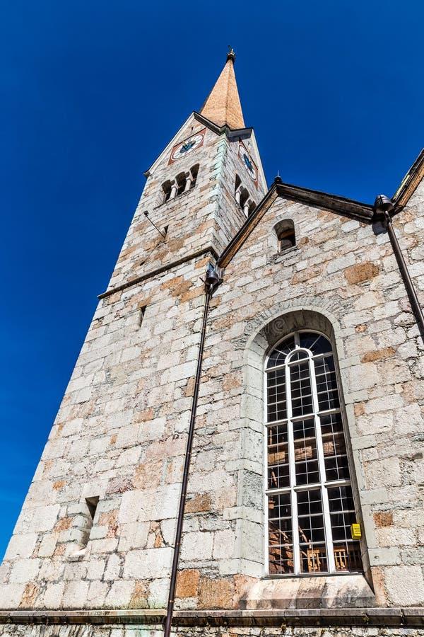Ewangelicki kościół, Salzkammergut, Austria fotografia royalty free