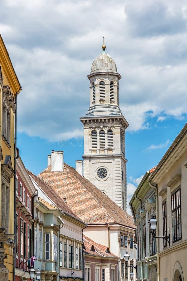 Ewangelicki kościół, Sopron, Węgry, środkowy Europa fotografia royalty free