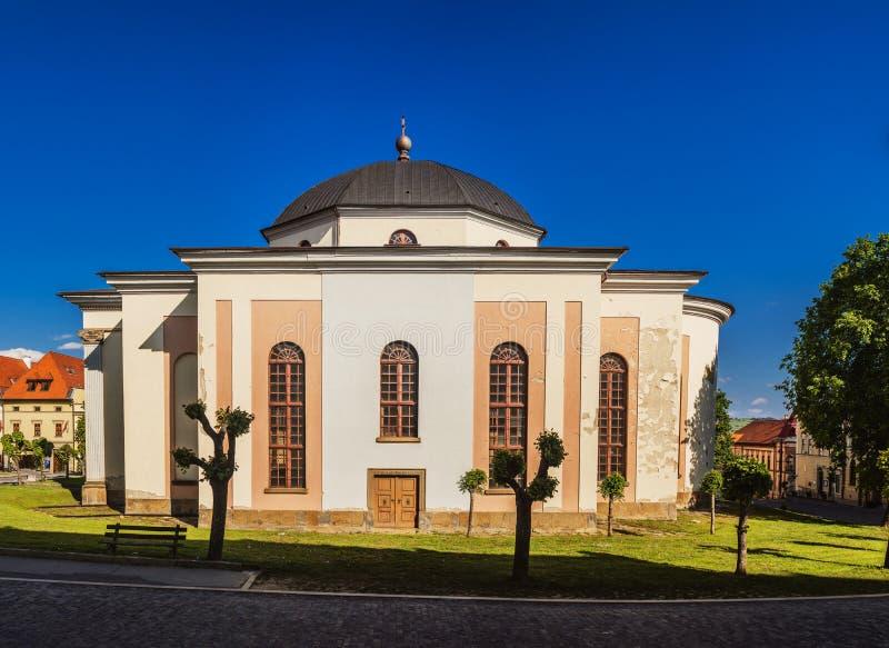 Ewangelicki kościół w Levoca obraz stock