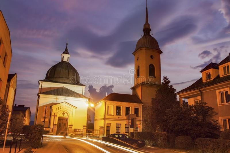 Ewangelicki kościół w Nowy Sacz obraz stock