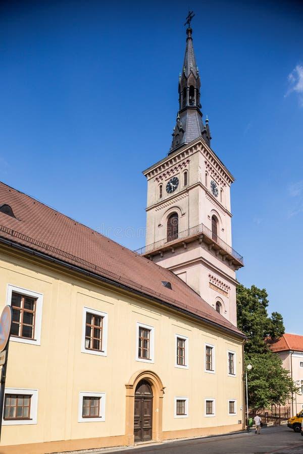 Ewangelicki kościół w Pezinok, Sistani zdjęcia stock
