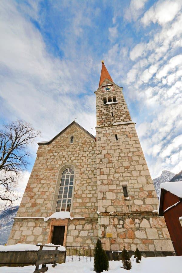 Ewangelicki kościół w Salzkammergut, Hallstatt w Austria zdjęcia royalty free