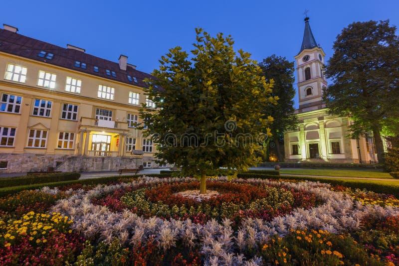 Ewangelicki kościół w Wisla, Polska zdjęcie stock