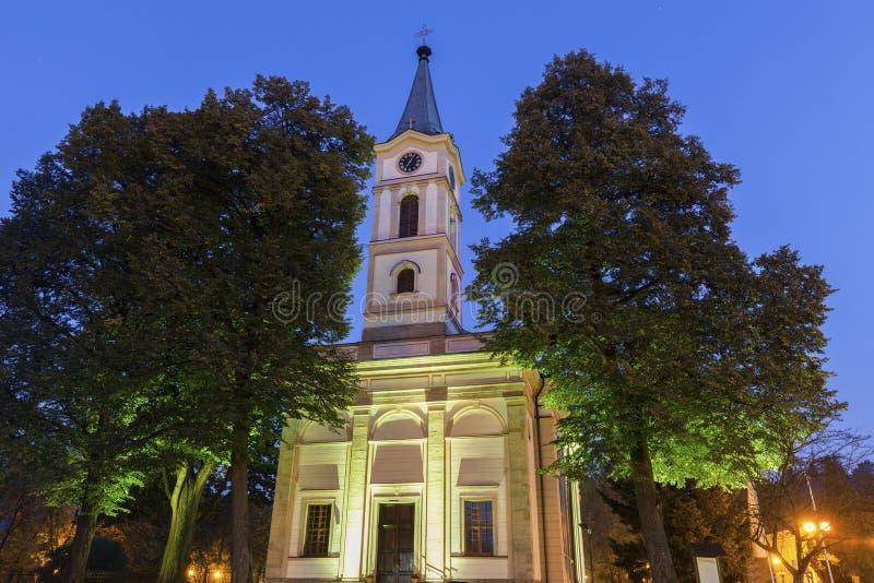 Ewangelicki kościół w Wisla, Polska fotografia royalty free