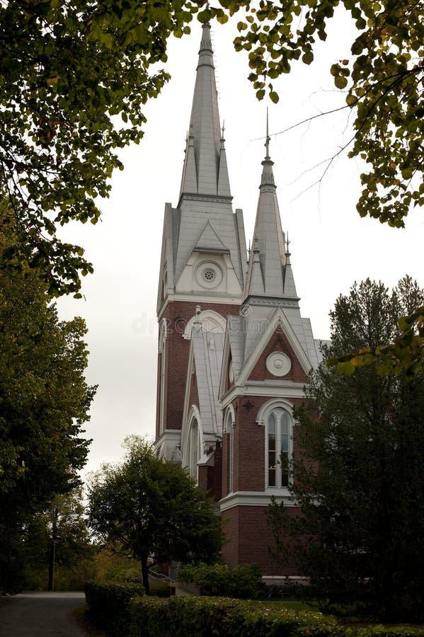 Ewangelicki Luterański kościół Joensuu obraz royalty free