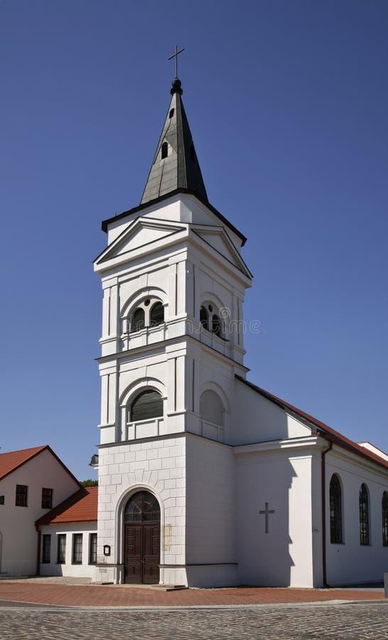 Ewangelicki Luterański kościół w Marijampole Lithuania zdjęcia royalty free