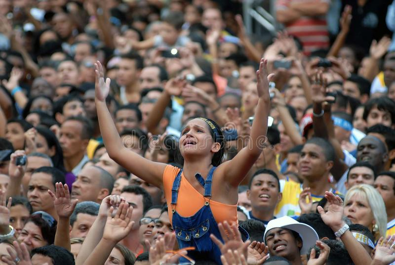 Ewangelicki wydarzenie Marzec dla Jezus zdjęcie royalty free