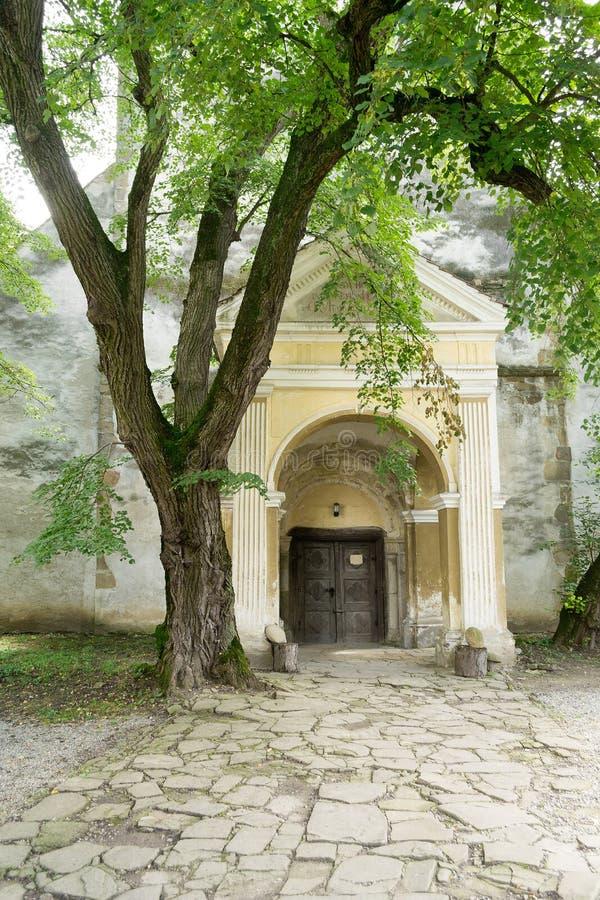 Ewangeliczka warowny kościół, Cincu, Transylvania obrazy royalty free