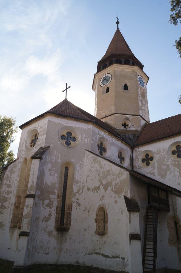 Ewangeliczka Warowny kościół od Prejmer, Brasov, Rumunia zdjęcia royalty free