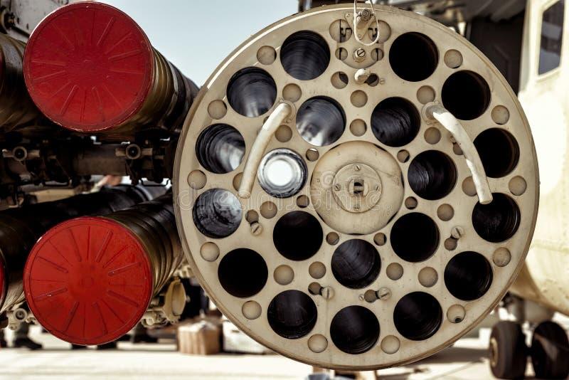 Ewentualna uzbrojenie konfiguracja na śmigłowcowym śmigłowu szturmowym zdjęcia royalty free